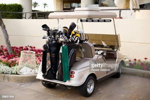 Here are my valuable golf clubs - Please help yourself!