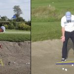 The ball & foot position for a standard bunker shot is critical!