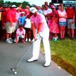 Hitting a ball off a Cart path is no big deal - Just watch!